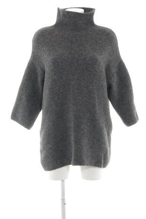 Zara Knit Wollen trui lichtgrijs klassieke stijl