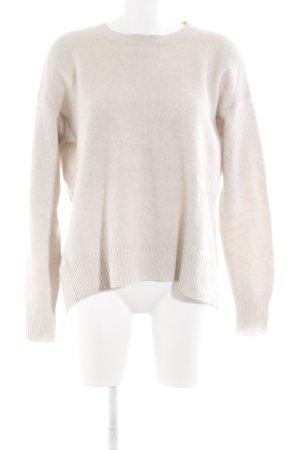 Zara Knit Jersey de lana crema look casual