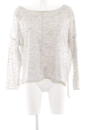 Zara Knit Wollpullover wollweiß meliert Casual-Look