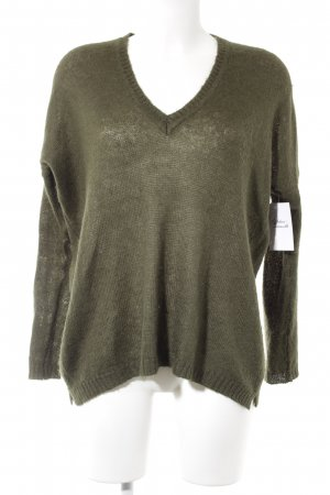 Zara Knit Wollen trui donkergroen Webpatroon casual uitstraling