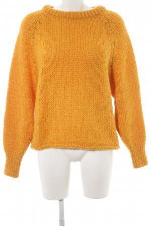 Zara Knit Wollpullover hellorange Casual-Look