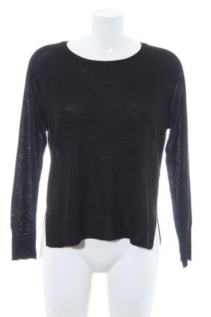 Zara Knit Wollpullover schwarz Casual-Look