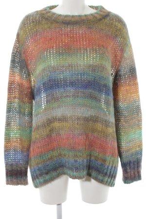 Zara Knit Wollpullover Streifenmuster Casual-Look