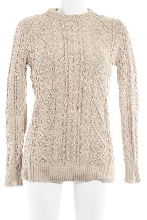 Zara Knit Zopfpullover beige Zopfmuster Casual-Look