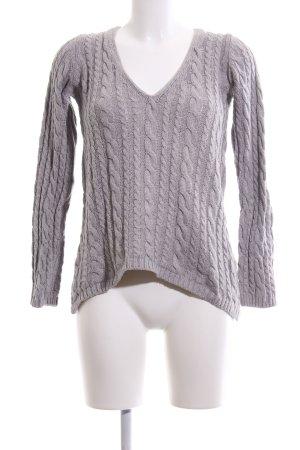 Zara Knit Jersey trenzado gris claro punto trenzado look casual