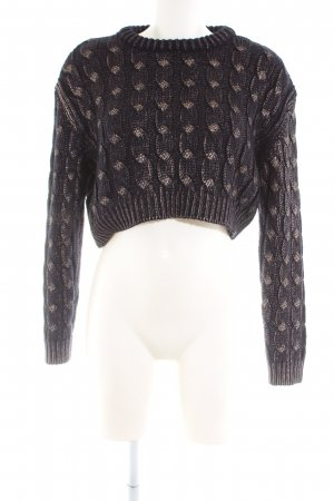 Zara Knit Cable Sweater black cable stitch casual look