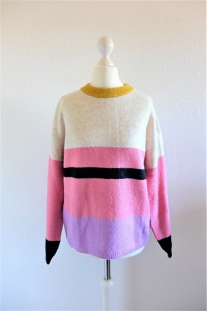 Zara Knitwear Fancy Collection Pulli Pullover schwarz weiß senf rosa pink Gr. S 36 (164)