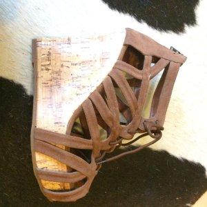 Zara Wedge Sandals brown