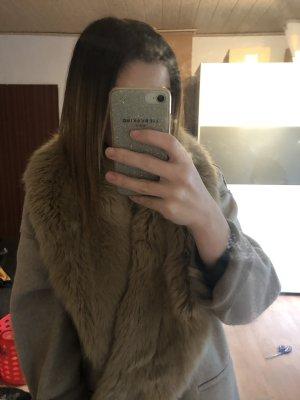 Zara Kunstfell beige