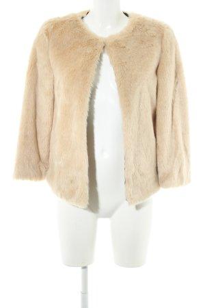 Zara Kunstfelljacke beige Elegant