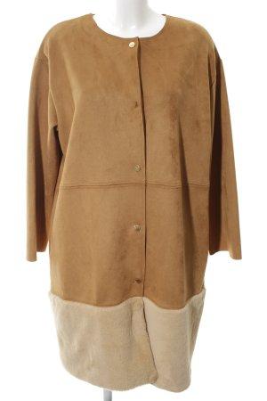 Zara Fake Fur Coat bronze-colored-cream casual look