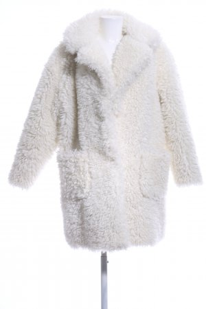 Zara Fake Fur Coat cream fluffy