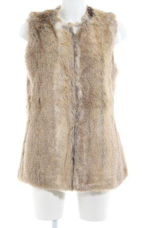 Zara Smanicato in ecopelliccia marrone stile casual