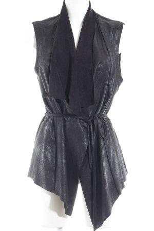 Zara Vest van imitatiebont zwart Monogram-patroon Biker-look