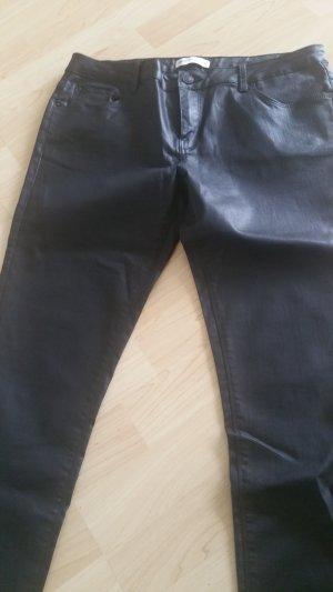 Zara Woman Leren broek zwart
