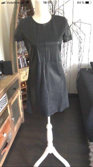 Zara Leather Dress black-anthracite
