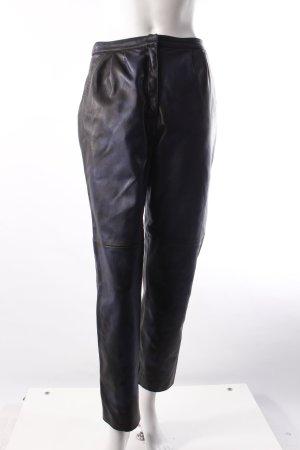 Zara Kunstlederhose blau-schwarz