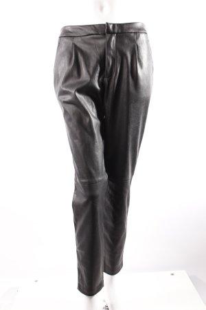Zara Kunstlederhose schwarz