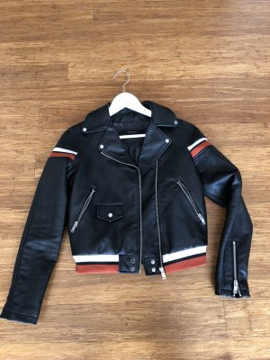 Zara Biker Jacket black synthetic material