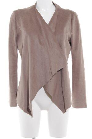 Zara Veste en cuir synthétique gris brun style décontracté
