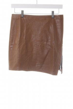 Zara Faux Leather Skirt cognac-coloured-black country style