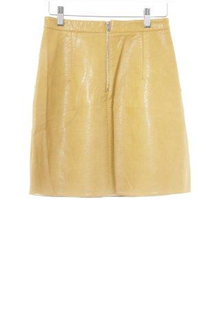 Zara Gonna in ecopelle giallo scuro Stile anni '70