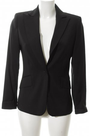 Zara Kurz-Blazer schwarz Allover-Druck Business-Look