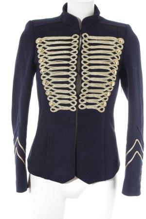 Zara Kurz-Blazer goldfarben-dunkelblau Elegant