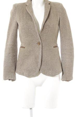 Zara Korte blazer grijs-bruin klassieke stijl