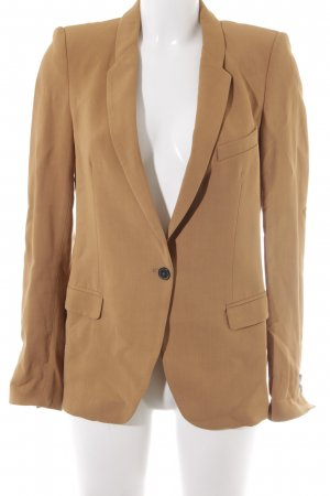 Zara Kurz-Blazer sandbraun Business-Look