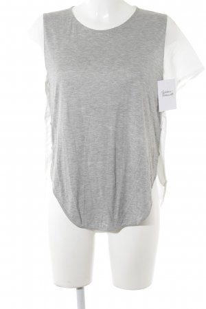 Zara Short Sleeved Blouse light grey-white casual look