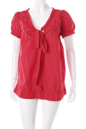 rote bluse kurzarm