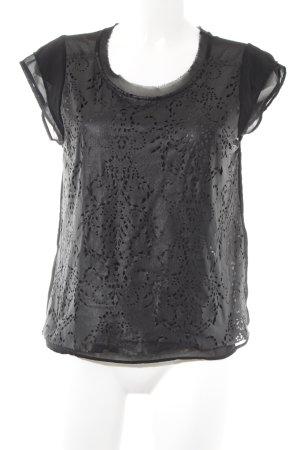 Zara Camicetta a maniche corte nero stile casual