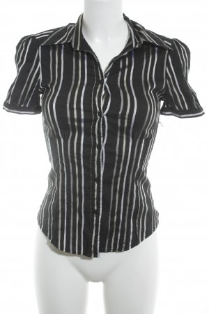 Zara Short Sleeved Blouse striped pattern business style