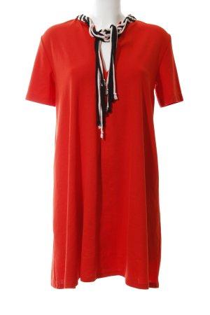 Zara Kurzarmkleid rot klassischer Stil
