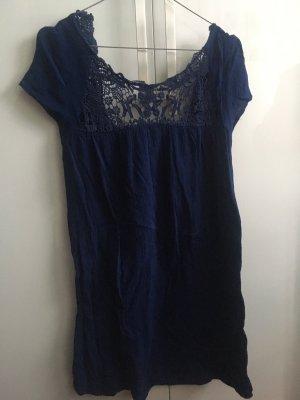 Zara   Kurzarmkleid   blau   XS