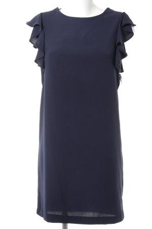 Zara Robe à manches courtes bleu foncé élégant
