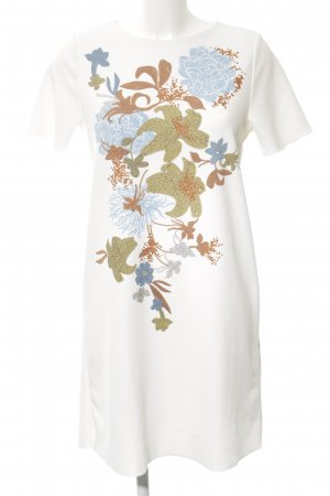 Zara Kurzarmkleid Blumenmuster Glanz-Optik