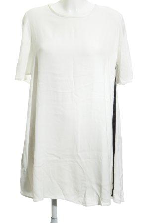 Zara Kurzarmkleid weiß-schwarz klassischer Stil
