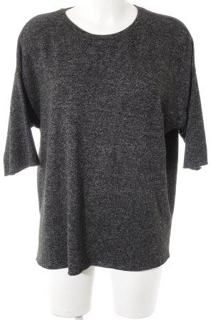 Zara Pull à manches courtes gris anthracite style décontracté