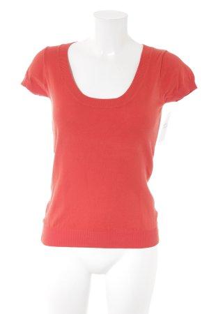Zara Pull à manches courtes rouge style décontracté