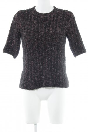 a5ba8e8aef Zara Short Sleeve Sweater black-red weave pattern casual look