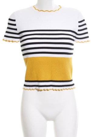 Zara Jersey de manga corta estampado a rayas look casual