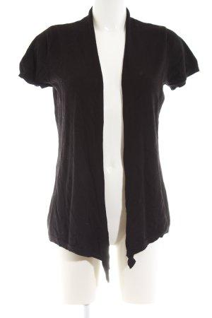 Zara Gebreid jack met korte mouwen zwart casual uitstraling