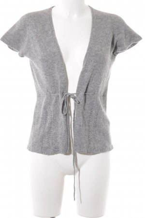 Zara Short Sleeve Knitted Jacket grey casual look