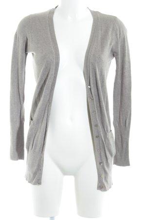 Zara Cardigan a maniche corte marrone-grigio stile casual