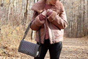 Zara Biker Jacket rose-gold-coloured