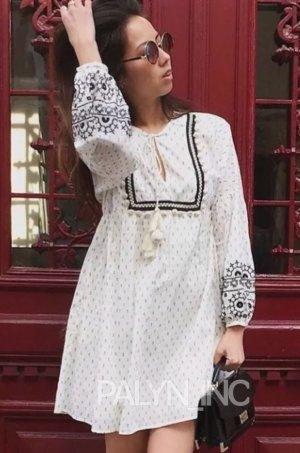 Zara Kurze Kleid  Mini Kleid Blogger