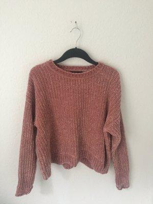 Zara kurzer Pullover aus Chenille