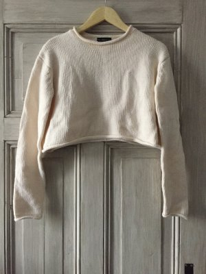Zara kurzer Pullover cremeweiß